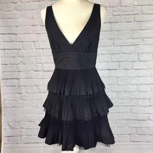 BCBG Maxazria tiered little black dress size 10